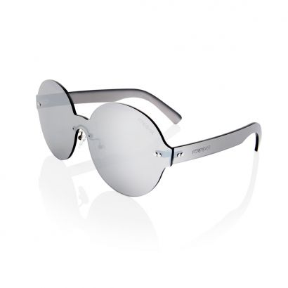 Rigel silver lens and frame sunglasses