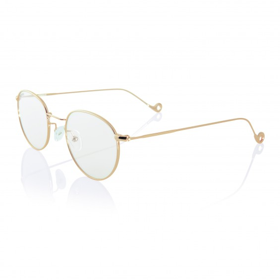Gold One - golden stainless steel frame for prescription glasses