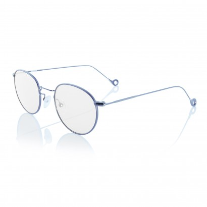 Gun Mat One - prescription glasses' gunmetal color steel frame