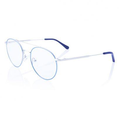 Alive - prescription glasses metal frame - blue and silver