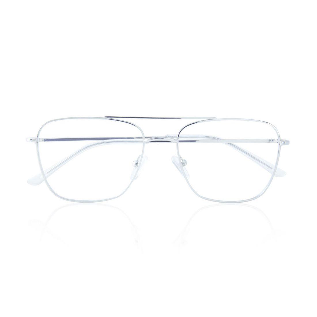 Occhiali da vista eleganti argentati 4FrhfF