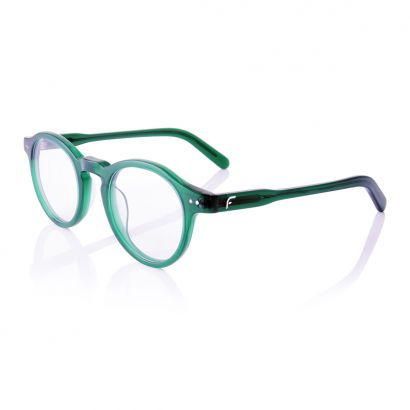 Stay - hand finished acetate glasses frame - green