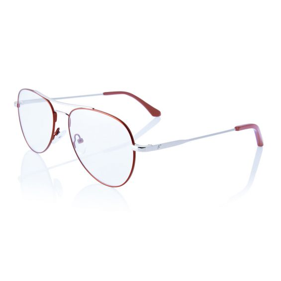 Voyager - glasses metal frame - colors red and silver