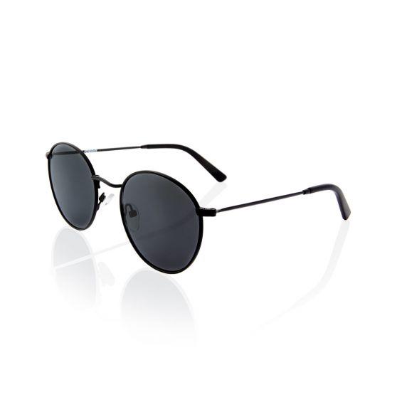NOBODY metal frame sunglasses green black lenses polarized