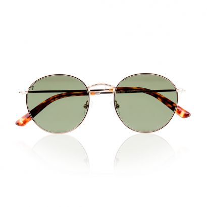 GOLD NOBODY with polarized green lenses