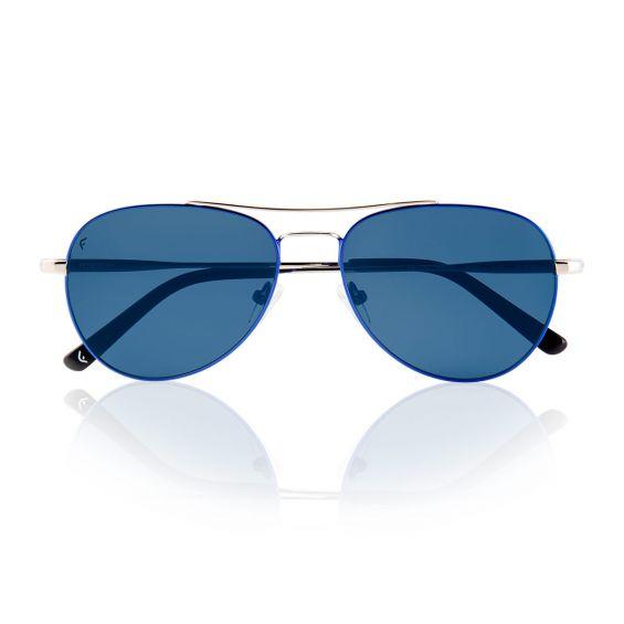 VOYAGER blu/argento con lenti blu polarizzate