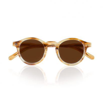 Stay - blonde acetate frame with polarized brown lenses