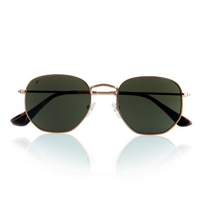 Hexagon green polarized lenses sunglasses