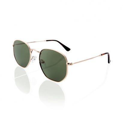 Hexagon green polarized lenses sunglasses