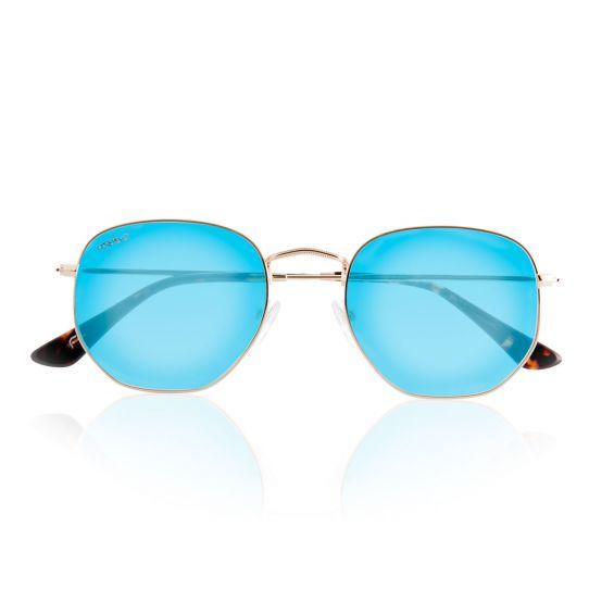 Hexagon occhiali da sole con lenti blu polarizzate