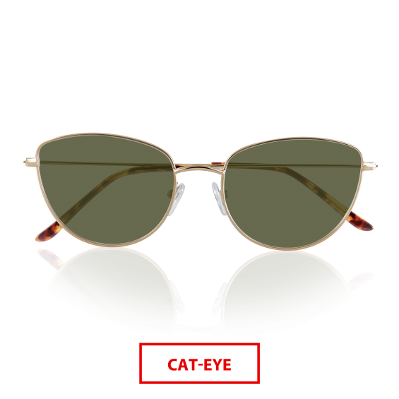 Lovely with metal frame and polarized lenses