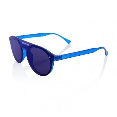 SUNGLASSES JUST BLUE - BLUE MIRROR LENS